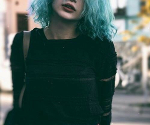 grunge, girl, and hair image