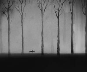 art, wolf, and boy image