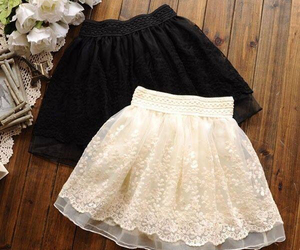 skirt, black, and fashion image