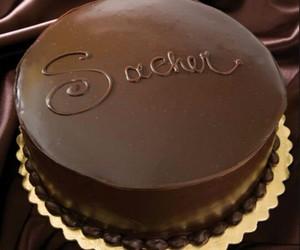 cake, chocolate, and dark chocolate image