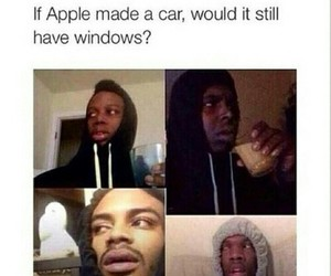 apple, funny, and windows image