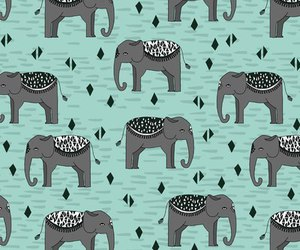 background, elephant, and wallpaper image