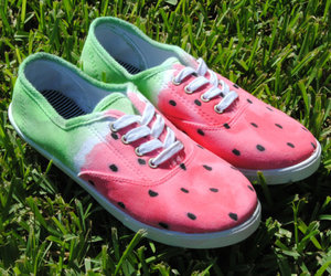 shoes and watermelon image