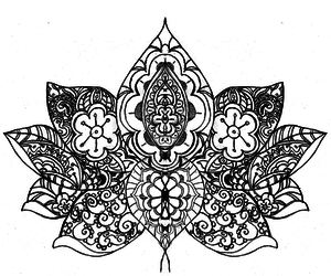 pattern, flower, and lotus image