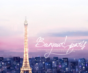 paris, bonjour, and france image