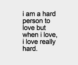 hard, quotes, and love image