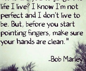bob marley, quoted, and truth image
