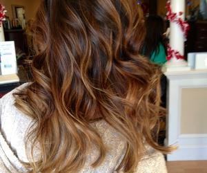 brunette, balayage, and hair image