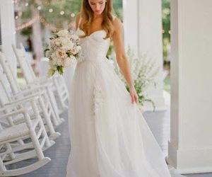 dress, wedding, and girl image