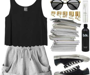 clothes, converse, and sunglasses image