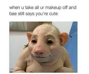 funny, bae, and makeup image