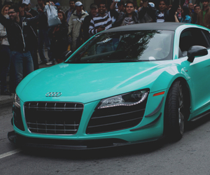 car, sports car, and turquoise image