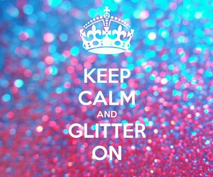 glitter, keep calm, and pink image