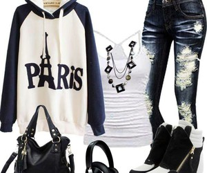 black, paris, and outfits image