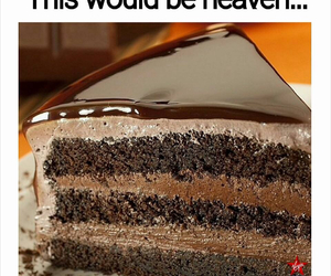 cake, chocolate, and heaven image