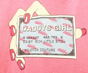 daddy, pink, and wildfox image