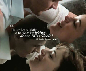kiss, smile, and fifty shades of grey image