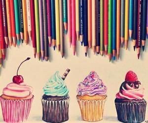 cupcake, art, and drawing image