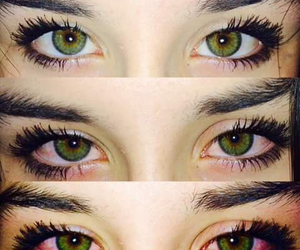 eyes, weed, and green image