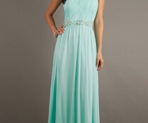 chiffon, long prom dress, and blue prom dress image
