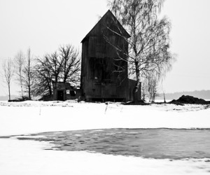 barn, country, and black and white image