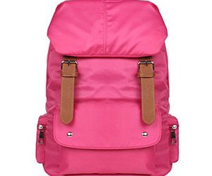 backpack, girly, and pink image