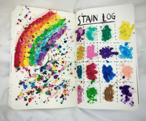 rainbow and wreck this journal image