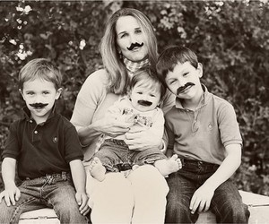 family and mustache image