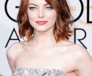 emma stone, girl, and red image