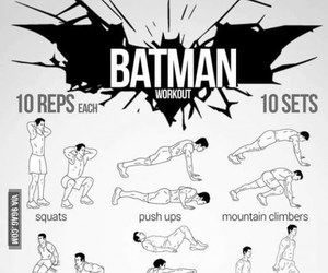 batman, workout, and exercise image