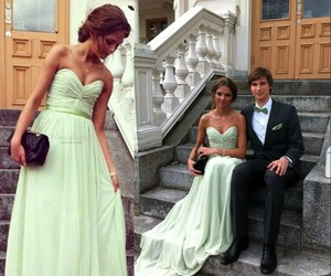 mint green, prom dress, and stunning image