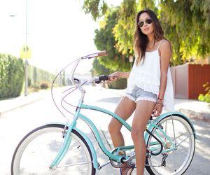 bike, summer, and girl image