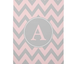 chevron, gray, and monogram image