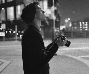 boy, smoke, and photography image