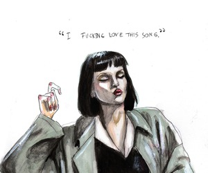 art, pulp fiction, and sketch image