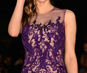 purple dress, alexandradaddario, and smile image