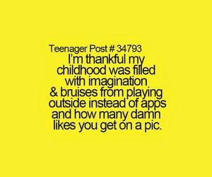 childhood, bruises, and imagination image