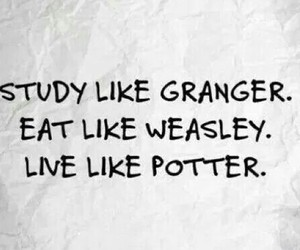 eat, harrypotter, and live image