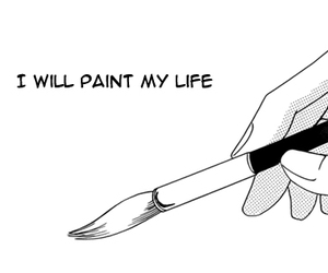 manga, life, and paint image