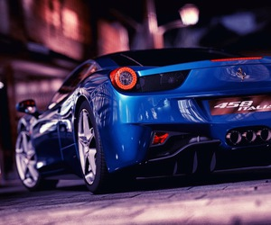 blue, car, and sleek image