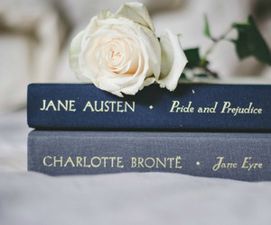 book, rose, and jane austen image