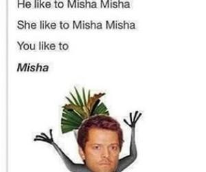 misha collins, supernatural, and castiel image