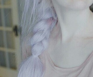 hair, pale, and pastel image