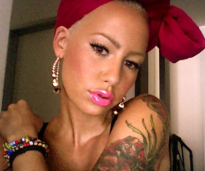 Amber Rose and tattoo image