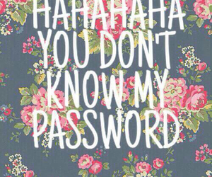 password, cute, and flowers image