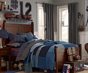 bed, bedroom, and boy image