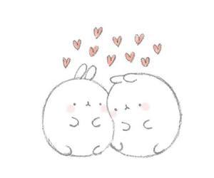 molang, cute, and rabbit image