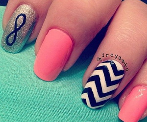 nails, infinity, and pink image