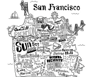 black and white, california, and sf image