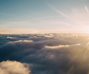 above the clouds image